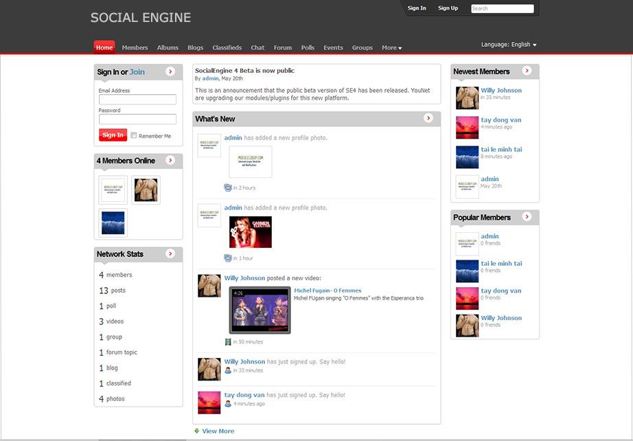 Бесплатный хостинг для social engine jino хостинг телефон